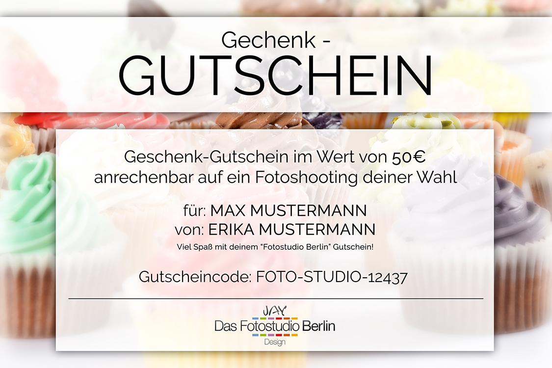 Gutschein - Beispiele - Das Fotostudio Berlin